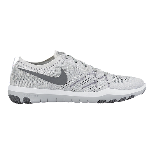 premium selection 7443f 885d9 Nike Women s Free TR Focus FlyKnit Training Shoes - White Grey   Sport Chek
