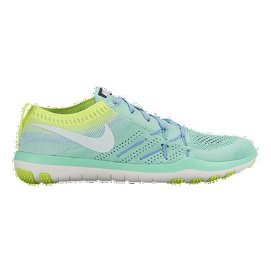 new styles 74da5 4bda8 Nike Women s Free TR Focus FlyKnit Training Shoes - Green Yellow   Sport  Chek