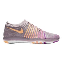 Nike Women's Free Transform FlyKnit Training Shoes - Grey/Orange/Purple