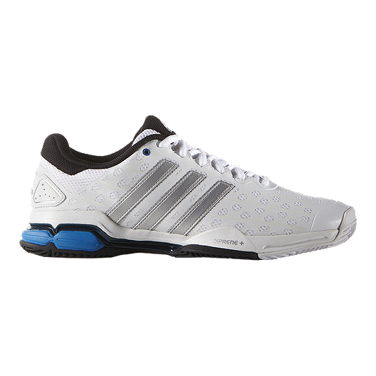 timeless design f18ad 21b5a adidas Men s Barricade Club Tennis Shoes - White Black Blue   Sport Chek