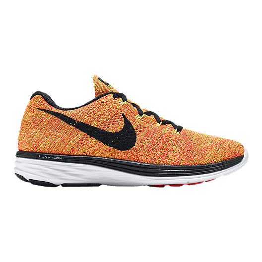 new concept 41320 7a785 Nike Women s FlyKnit Lunar 3 Running Shoes - Orange Yellow Black   Sport  Chek