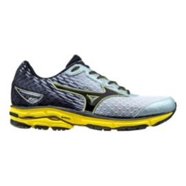 Mizuno Men's Wave Rider 19 Running Shoes - Silver/Yellow