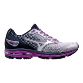 Mizuno Women's Wave Rider 19 Running Shoes - Navy/White/Purple
