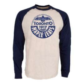 Toronto Maple Leafs Spheric Raglan Long Sleeve Top