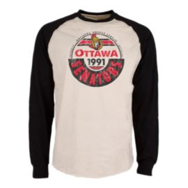 Ottawa Senators Spheric Raglan Long Sleeve Top