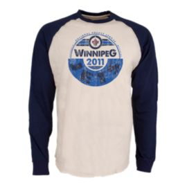 Winnipeg Jets Spheric Raglan Long Sleeve Top