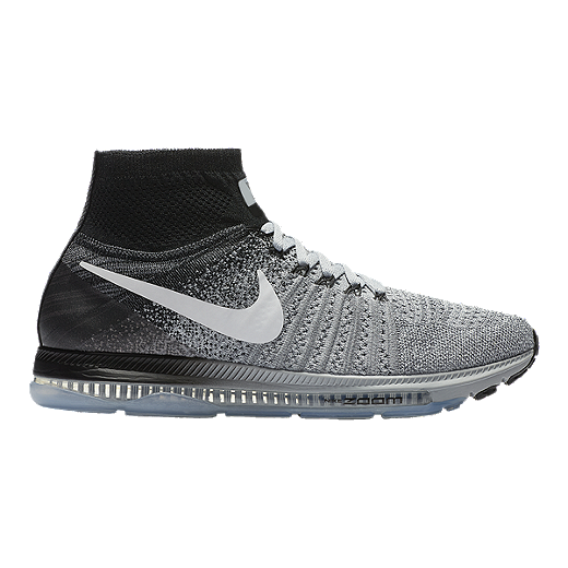 a6fd459068c Nike Men's Zoom All Out FlyKnit Running Shoes - Black/Grey | Sport Chek