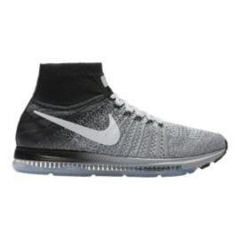 Nike Men's Zoom All Out FlyKnit Running Shoes - Black/Grey