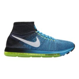 Nike Men's Zoom All Out FlyKnit Running Shoes - Black/Blue/Yellow