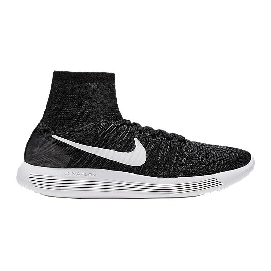 d99c2a27ee213 Nike Men s LunarEpic FlyKnit Running Shoes - Black White
