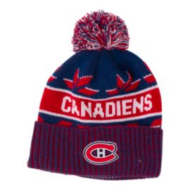Montreal Canadiens Saxon Cuffed Pom Knit