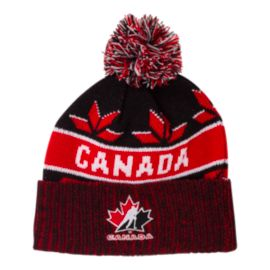 Team Canada Saxon Cuffed Pom Knit