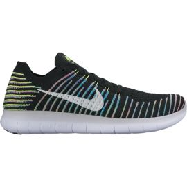 Nike Men's Free RN FlyKnit Running Shoes - Black