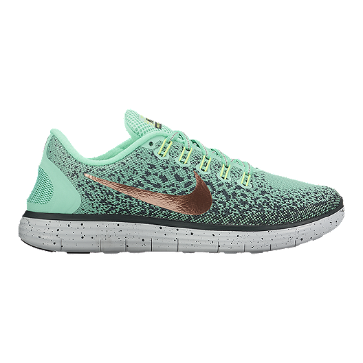 buy popular bef28 cb9b4 Nike Women's Free RN Distance Shield Running Shoes - Teal ...