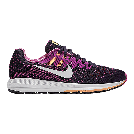 more photos 7fa0d a1d90 Nike Women s Air Zoom Structure 20 Running Shoes - Purple Pink Orange