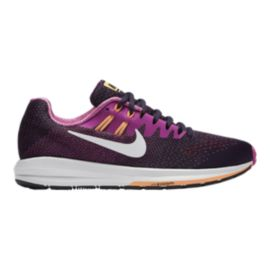Nike Women's Air Zoom Structure 20 Running Shoes - Purple/Pink/Orange