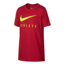 Nike Dry Boys' Swoosh Athlete Short Sleeve Top