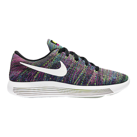 262afd25983b Nike Women s LunarEpic Low FlyKnit Running Shoes - Rainbow Black White