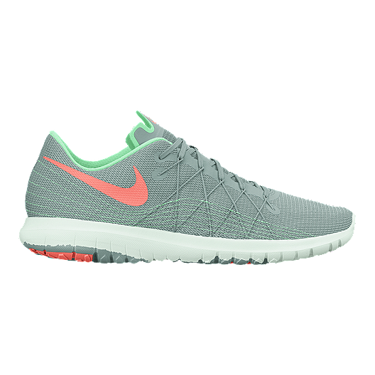 37e79aa6a76 Nike Women s Flex Fury 2 Running Shoes - Grey Mint Green Pink ...
