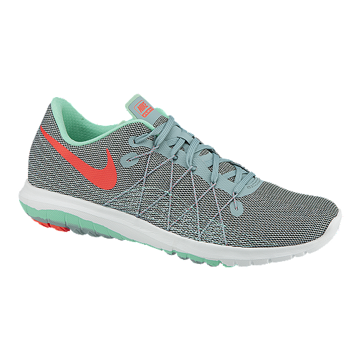 fe471a3ae7bc Nike Women s Flex Fury 2 Running Shoes - Grey Mint Green Pink ...