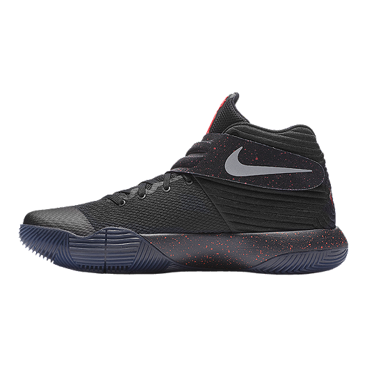 d000762caa15 Nike Men s Kyrie 2 Basketball Shoes - Black Silver Red