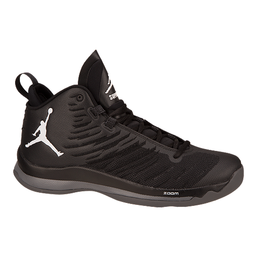 66983c0d7743 Nike Men s Jordan SuperFly 5 Basketball Shoes - Black Grey White ...