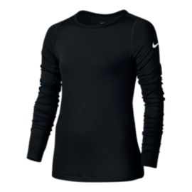 Nike Pro Girls' Warm Long Sleeve Top