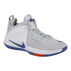 Nike Men's Zoom Air Witness Basketball Shoes - Grey/Blue/Orange