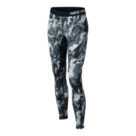 Nike Girls' Hyperwarm All Over Print Tights