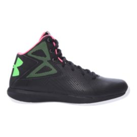 Under Armour Kids' Rocket Grade School Basketball Shoes - Black/White