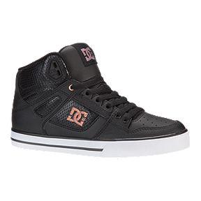 268de5463c68e9 DC Women s Spartan High TX SE Skate Shoes - Black Rose