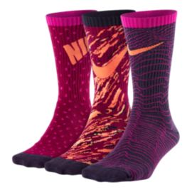 Nike Girls' Performance Lightweight Crew Socks 3 - Pack