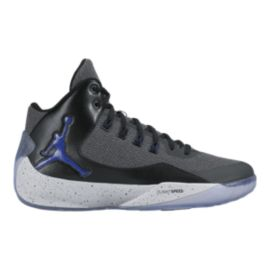 Nike Men's Jordan Rising High 2 Basketball Shoes - Grey/Black/Blue