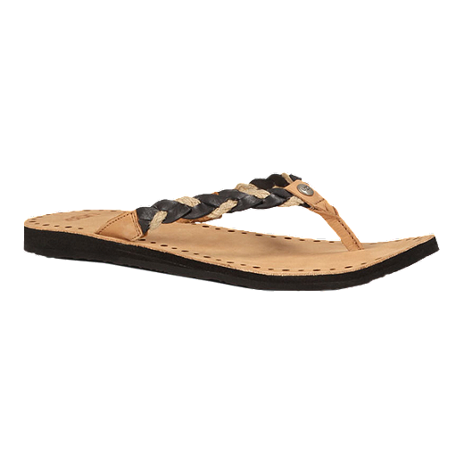 971f784d1b8 UGG Women's Navie Sandals - Tan/Black | Sport Chek