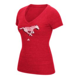 Calgary Stampeders Primary Distress Women's Tee