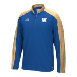 Winnipeg Blue Bombers Knit 1/4 Zip Long Sleeve Top