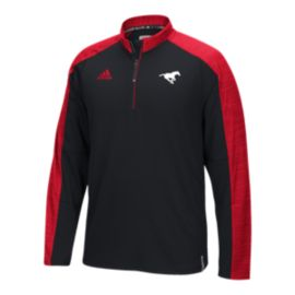 Calgary Stampeders Knit 1/4 Zip Long Sleeve Top
