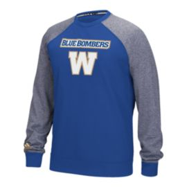 Winnipeg Blue Bombers Raglan Fleece Long Sleeve Top