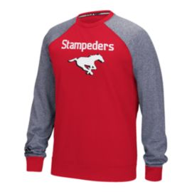 Calgary Stampeders Raglan Fleece Long Sleeve Top