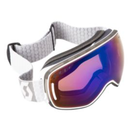 SCOTT LCG White/Blue Ski Goggles - 16/17