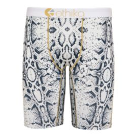 Ethika Snake White Men's Boxer Brief