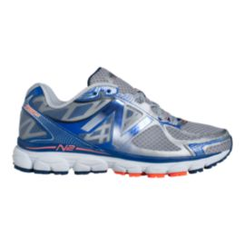 New Balance Men's 1080v5 D Running Shoes - Silver/Blue