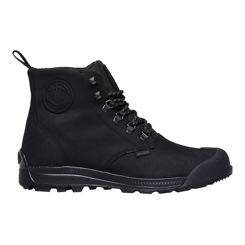 Leather Men's Palladium Waterproof Boots Pampatech Black High ZSt6n1qf