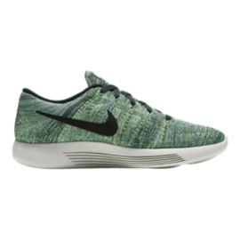 Nike Men's LunarEpic Low FlyKnit Running Shoes - Green/Black