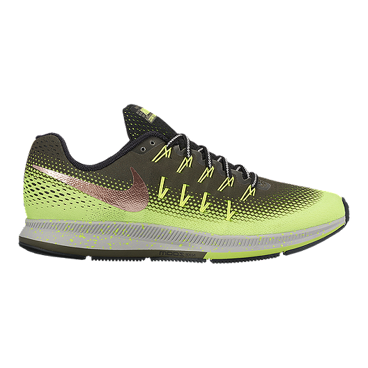 903d5fad2563 Nike Men s Air Zoom Pegasus 33 Shield Running Shoes - Black Yellow ...