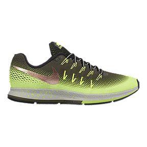 Nike Men's Air Zoom Pegasus 33 Shield Running Shoes - Black/Yellow
