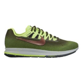 Nike Men's Air Zoom Structure 20 Shield Running Shoes - Green/Bronze