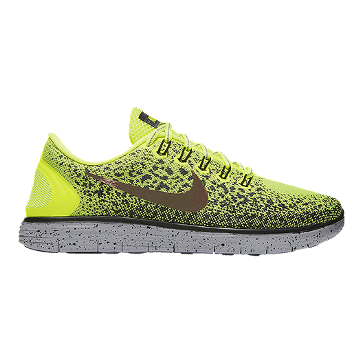 watch e543a 7d954 Nike Men s Free RN Distance Shield Running Shoes - Volt Green Pattern    Sport Chek
