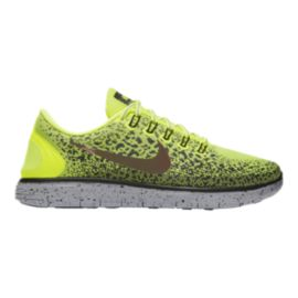 Nike Men's Free RN Distance Shield Running Shoes - Volt Green Pattern