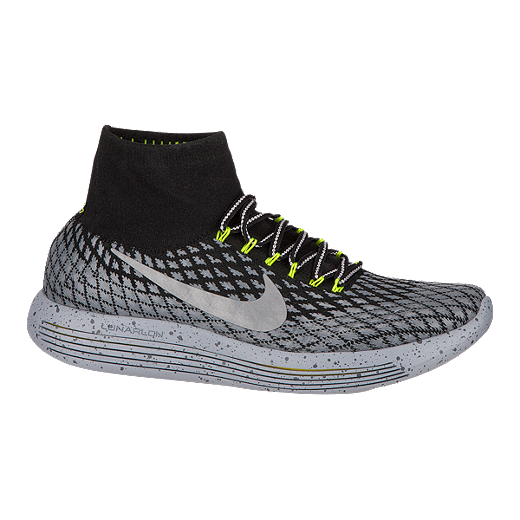 new style a0eb3 a6983 Nike Men s LunarEpic FlyKnit Shield Running Shoes - Black Silver   Sport  Chek